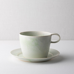 yamyam studio ~山崎裕子さん~/カップ&ソーサー(M)/グリーン