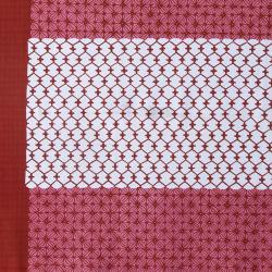 型染めの多用布192×110 <麻の葉に網目文>/山内武志さん(山内染色工房・アトリエぬいや)(マルチクロス・テーブルクロス・スロー)