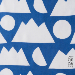 型染めの手ぬぐい<日月山>/作り手 山内武志さん(山内染色工房/アトリエぬいや)