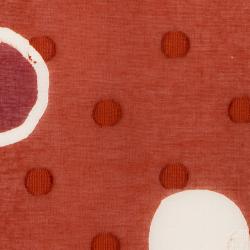 型染めの風呂敷<玉と輪(弁柄)/110サイズ>/作り手 山内武志さん(山内染色工房/アトリエぬいや)