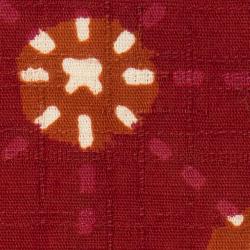 型染めの風呂敷<刺し子小玉(茜)/70サイズ>/作り手 山内武志さん(山内染色工房/アトリエぬいや)